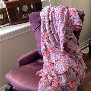 Stunning BOHEMIAN BOHO Hand Crochet Blanket